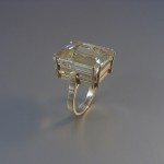geelgouden ring met citrien 18x15mm